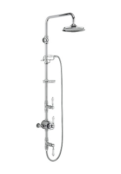Stour Thermostatic Exposed Shower Valve Two Outlet